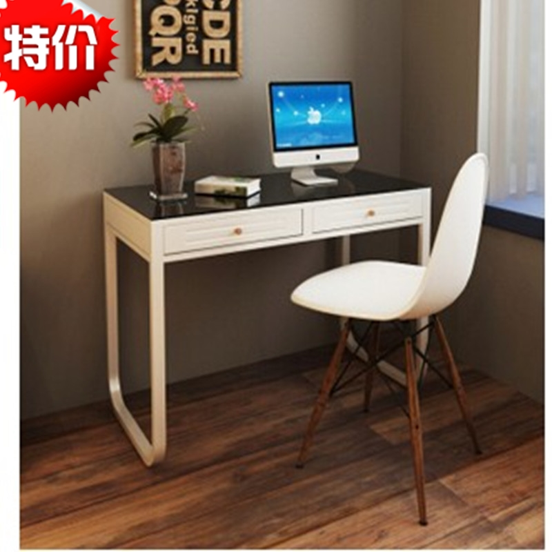 Modern minimalist home desktop computer desk computer desk bed with desk simple office notes this tempered glass computer desk