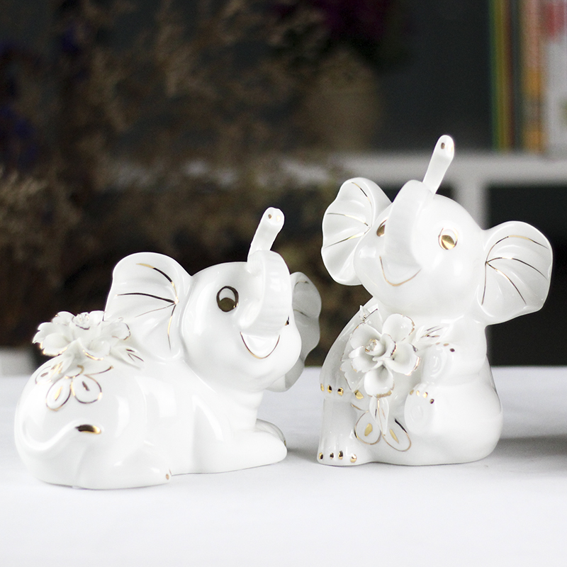 Modern minimalist living room decoration ornaments creative home accessories ceramic crafts decoration elephant