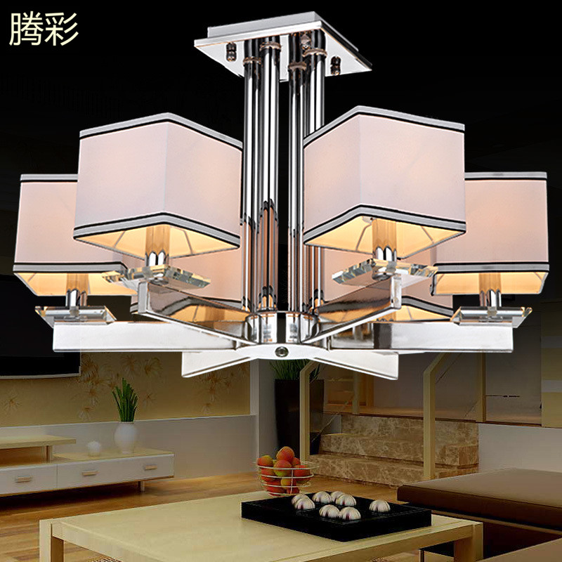 Modern minimalist living room lamp crystal lamp atmosphere new chinese restaurant chandelier led chandelier bedroom lamp study art lamps