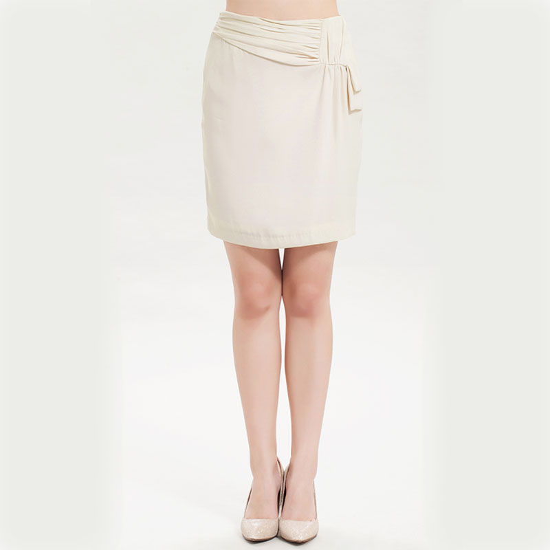 Monopoly dew professional women ol commuter fashion asymmetrical pleated solid color female skirt west 5573