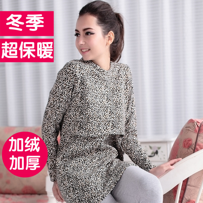 Month of autumn and winter clothes postpartum buru yi out of fashion plus velvet thick warm coat long section of the spring and autumn feeding