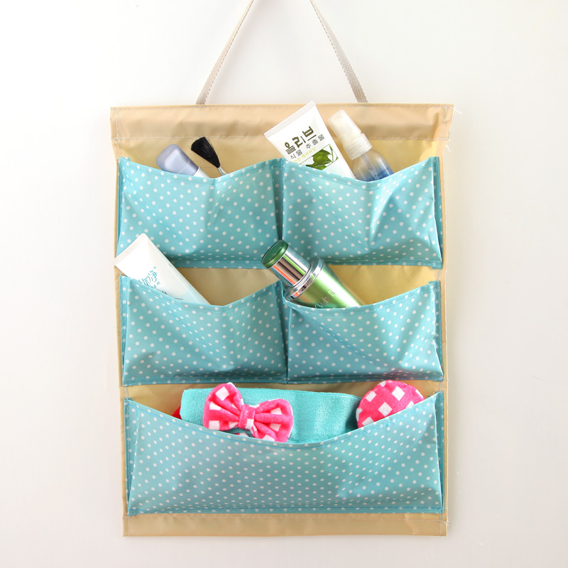 More than mouth fashion polka dot oxford door hang the bag wall hanging storage bag