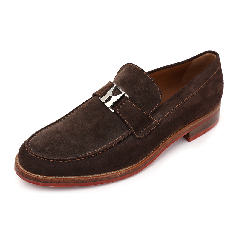 Moreschi/æ©éæ¯base authentic men's fashion to help low shoes cow suede leather shoes men's scrub