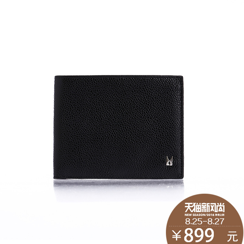 Moreschi/摩里斯base genuine man bag men's short wallet leather wallet leather cross section square thin hiswallet