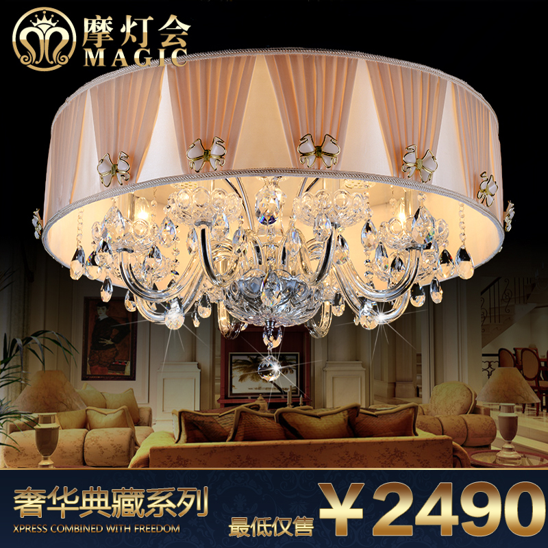 Moroccan lantern european crystal lamp led crystal ceiling lights round the bedroom restaurant lighting lamps living room atmosphere