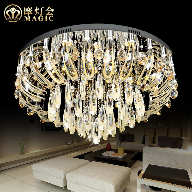 Moroccan lantern lamp bedroom lamp warm round led crystal ceiling living room modern minimalist restaurant lighting atmosphere