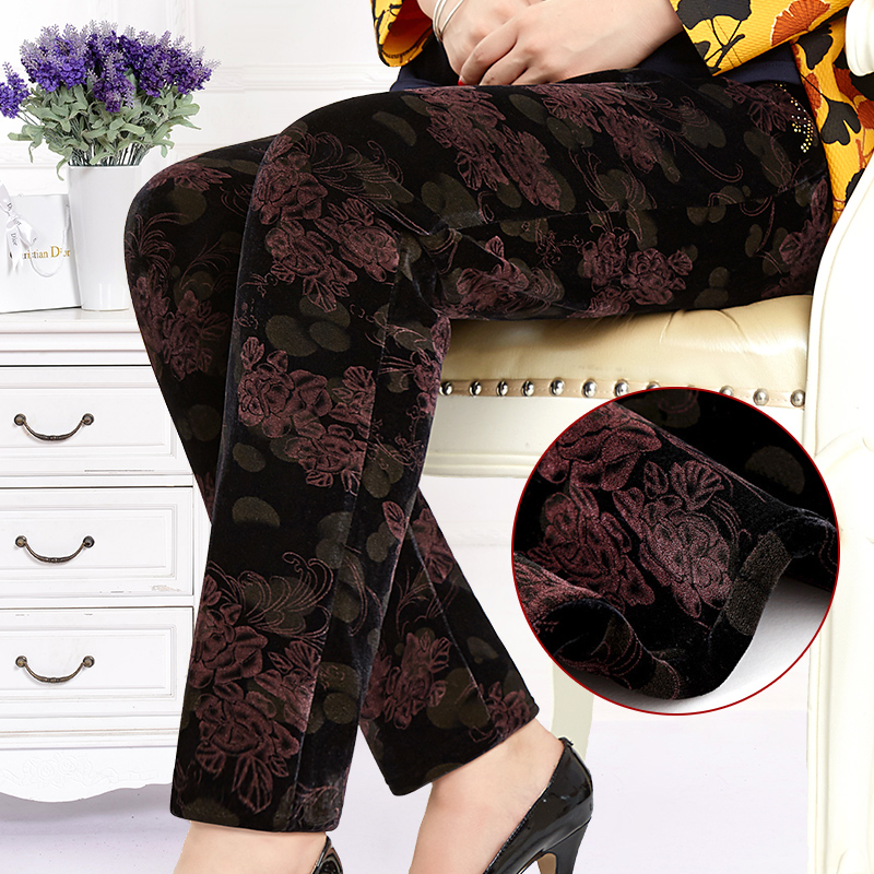 Mother's day mother dress middle-aged middle-aged women women 40-50-year-old fat granny pants long pants