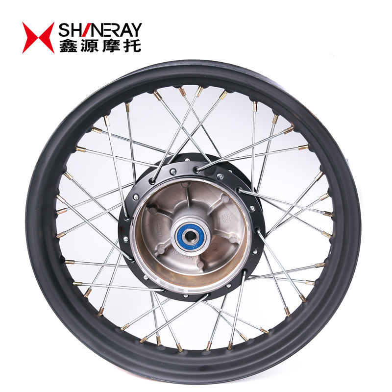 Motorcycle parts rear mesh wheel-XY400 shineray--drum-wheelboss-rims matte black- Vintage 390 h