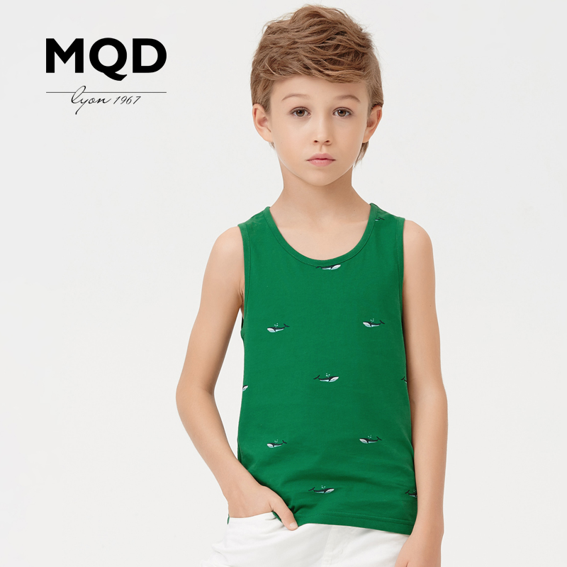 Mqd kids boys 2016 summer new animal print cotton vest children sleeveless cotton vest vest