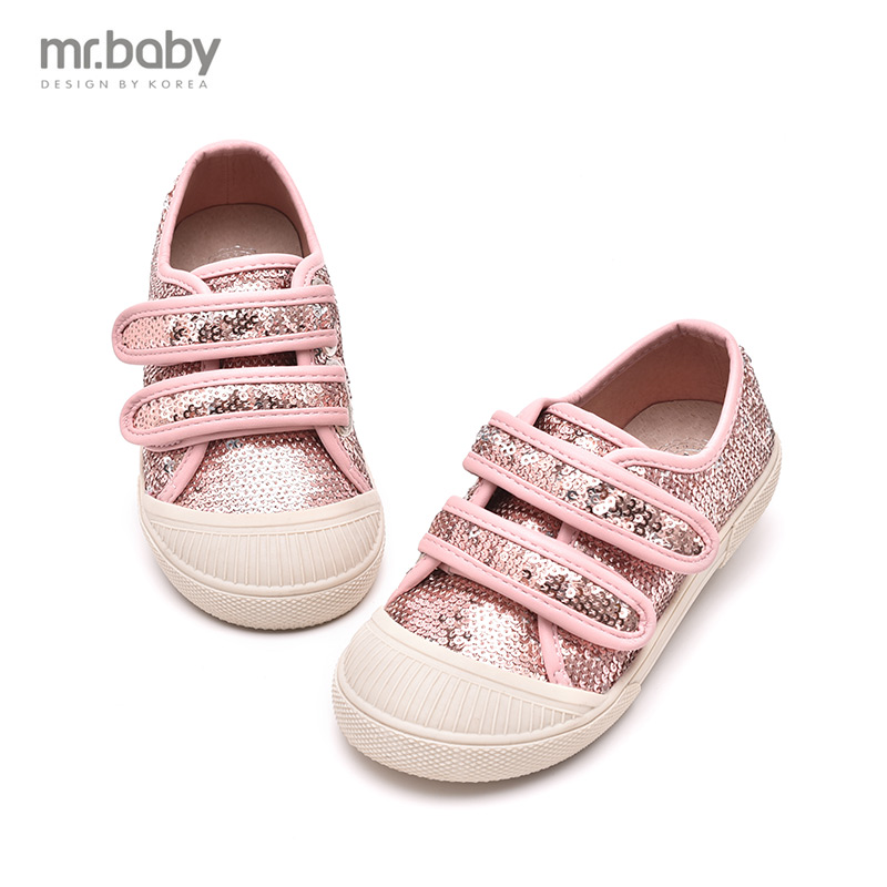 Mr. baby autumn korean children's casual shoes sequined women's shoes 2016 new shell head shoes sneakers boys