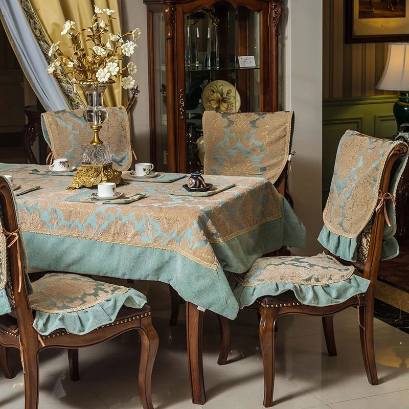 Mrs. karin european fabric tablecloth rectangular coffee table cloth square coffee table cover cloth dining chair sets new suit