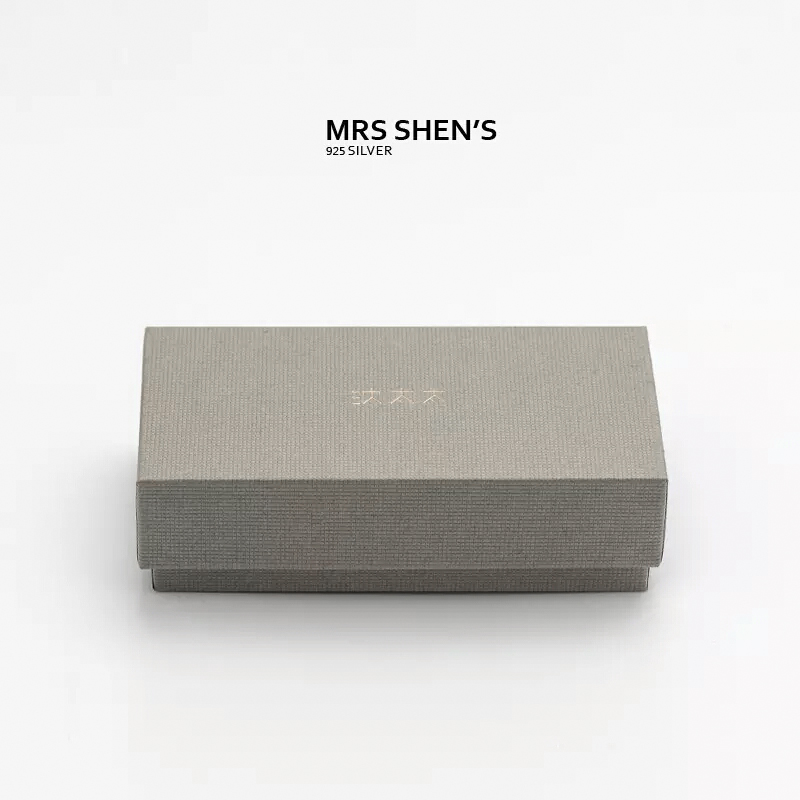 Mrs. shen 925 silver jewelry gift box necklace earrings box ring box bracelet gift