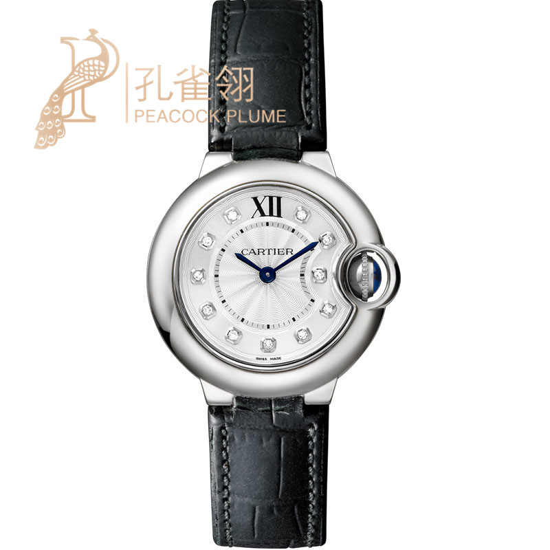 Ms. cotton flax 16 cartier watches cartier blue balloon series diamond leather strap W4BB0008