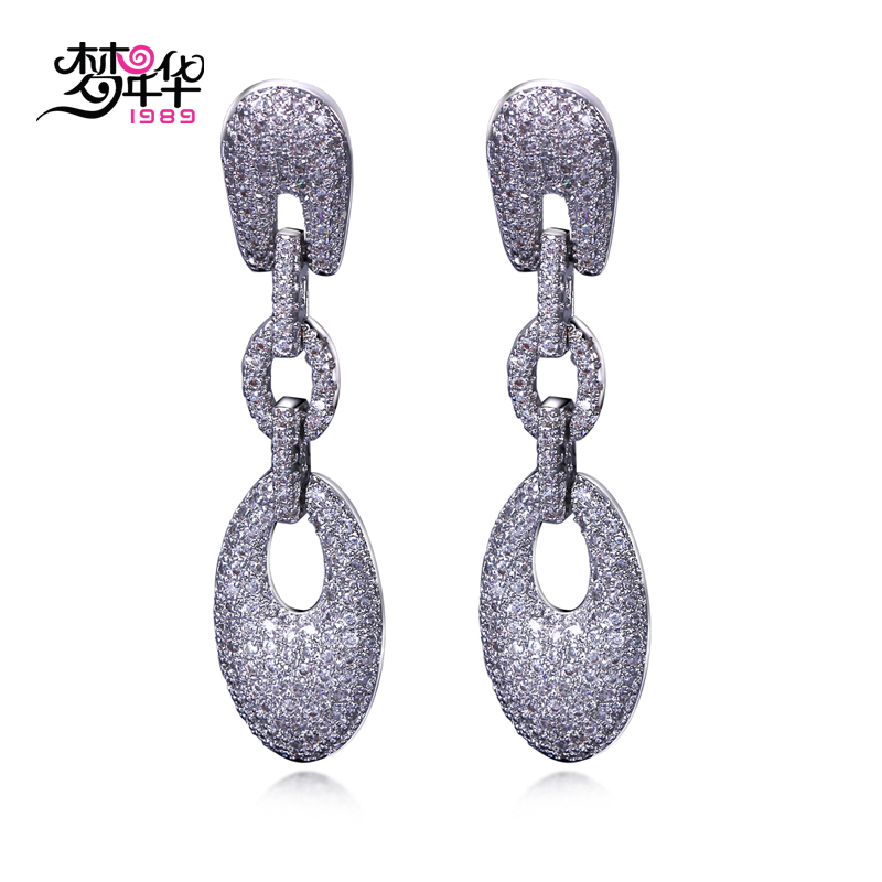 Ms. dream i love fashion european and american popular female models zircon earrings earrings drop earrings designer models