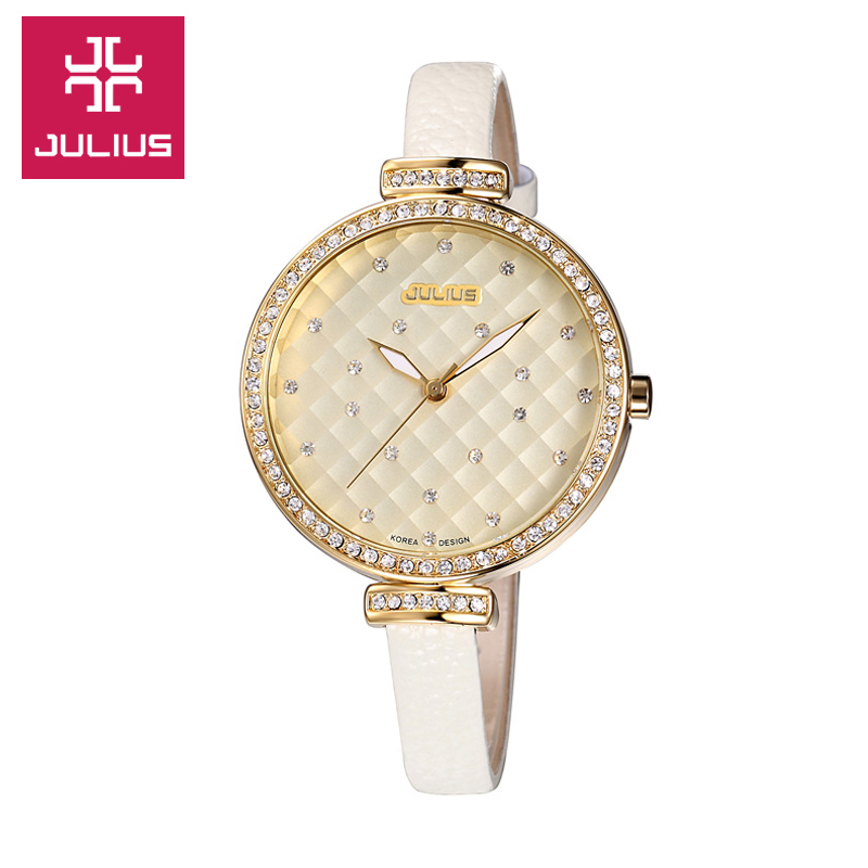 Ms. julius poly lee korean female form diamond crystal boutique ladies belts big dial watches women