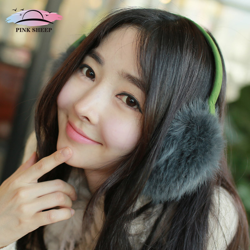 Ms. pink sheep 2015 japan antifreezing rabbit fur earmuffs earmuffs ear lovely warm warm days of autumn and winter
