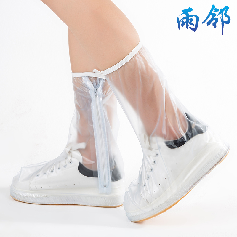 Ms. rain neighbors in tall rain shoes slip resistant thick portable outdoor fashion rain waterproof shoe covers