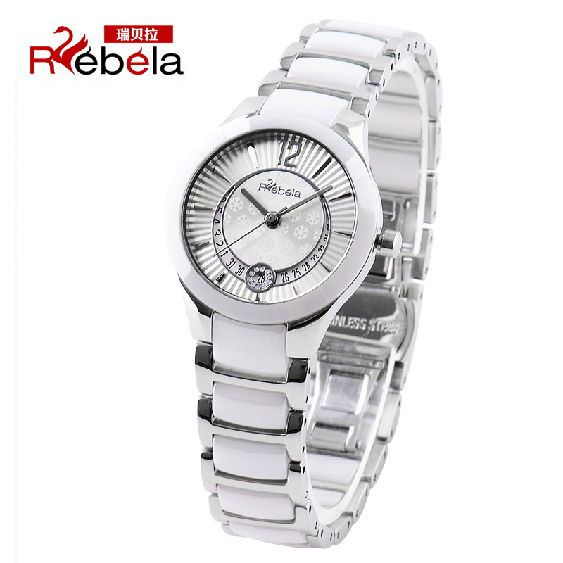 Ms. ruibei la ceramic watches white female form diamond watch korean fashion slim