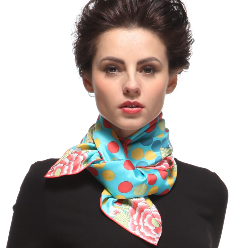 Ms. spring and autumn scarf female winter scarf silk scarf printed silk scarf to keep warm polka dot