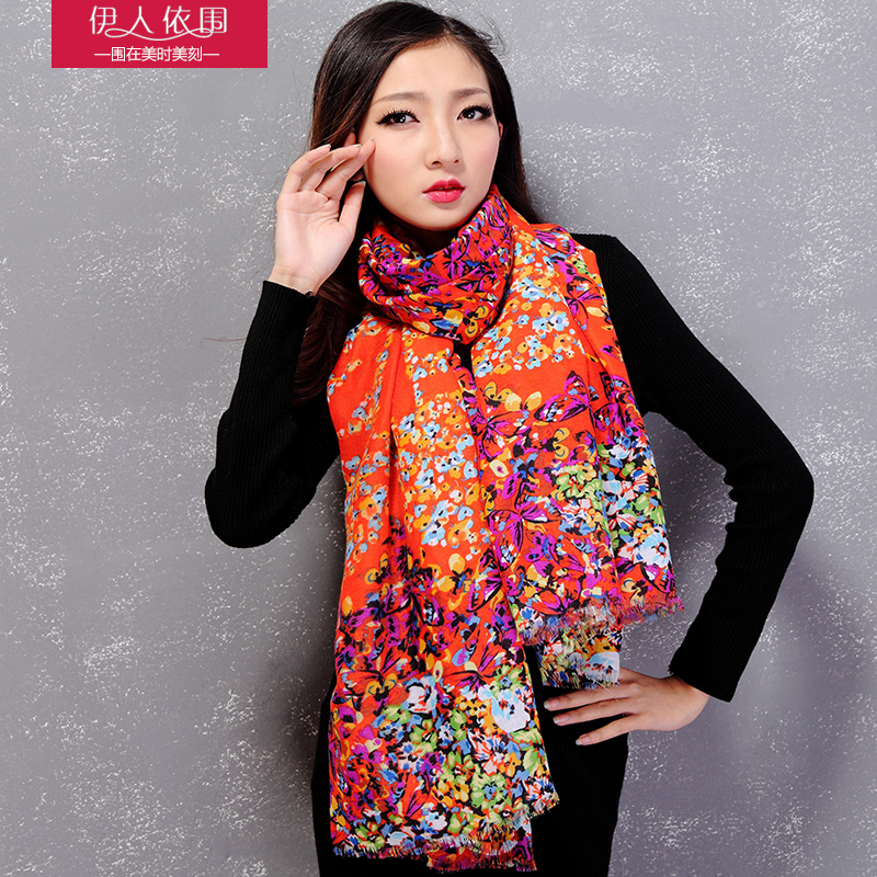 Ms. winter scarf spring and autumn rayon print long scarf korean female scarf shawl scarf wild tide