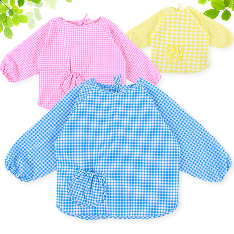 Mu tong children all inclusive dinner gowns baby clothes baby food and clothing rice pocket waterproof anti dressing gowns painting