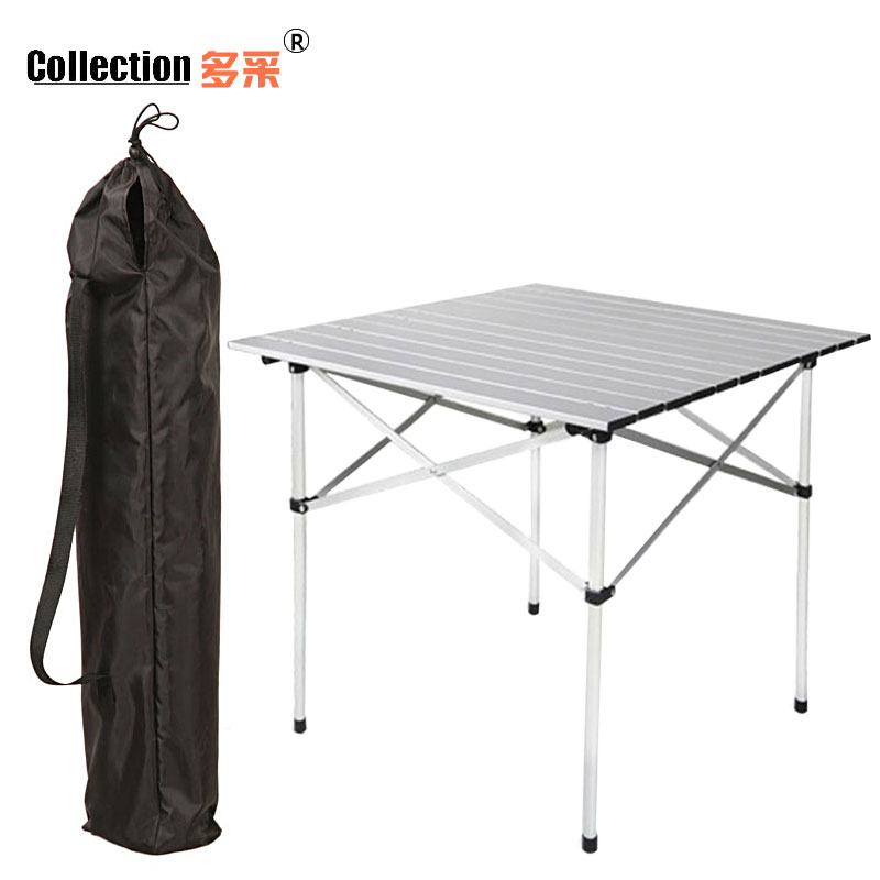 Much more expensive than outdoor barbecue picnic table aluminum folding table leisure table portable folding table table table propaganda