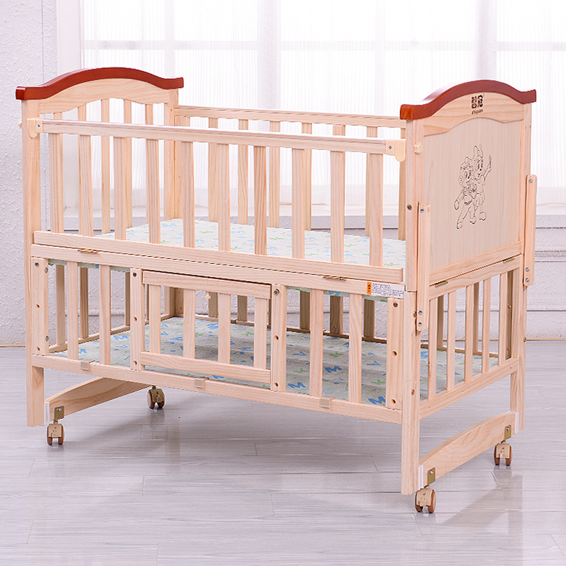 Multifunction wood crib variable desk children's beds baby bed baby cradle bed nets to send