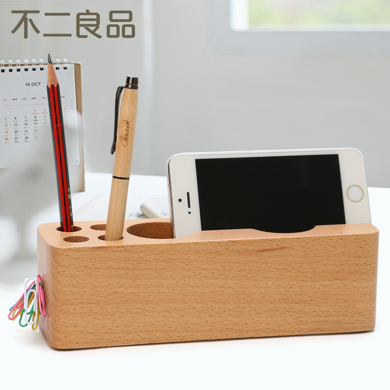 Multifunction wood pen pen creative fashion office supplies students korean version of the personality minimalist wood pen pen pen holder