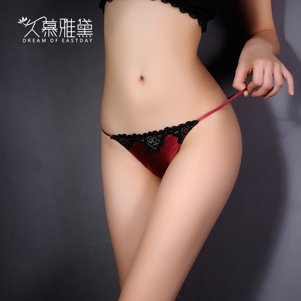 ff33dbc1e1 Get Quotations · Muya dai long sexy embroidered lace panties female  temptation transparent low waist thin hollow thong t