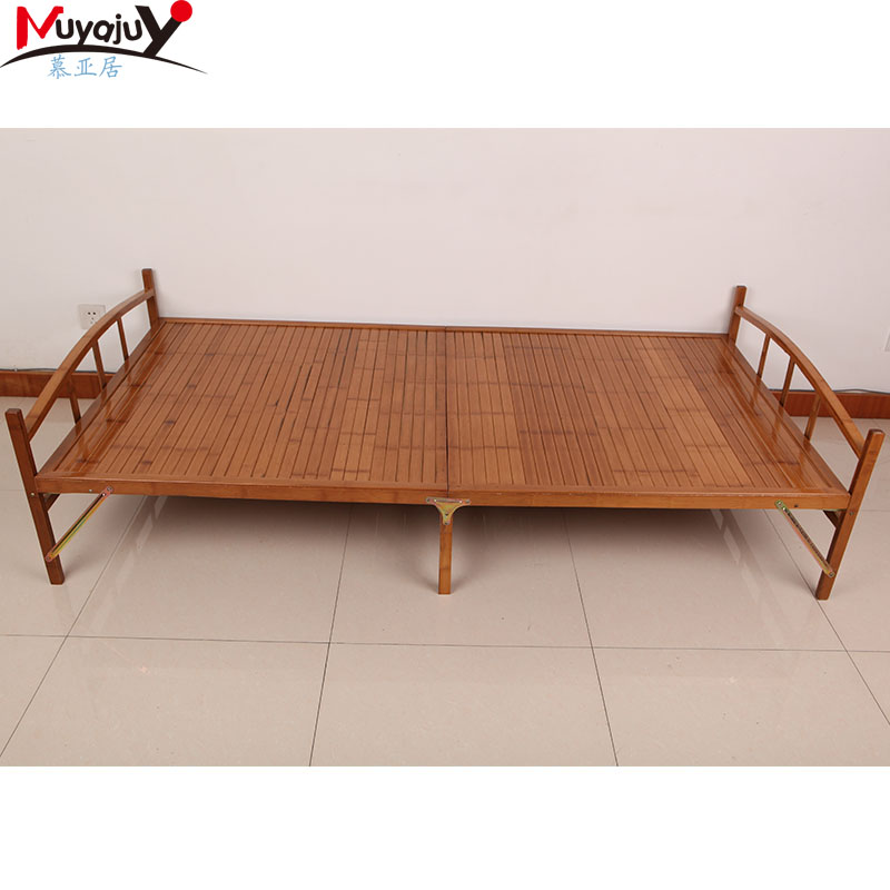 Muya habitat bamboo carbonized bamboo bed folding bed siesta bed cot bed linen double 1.2 free installation