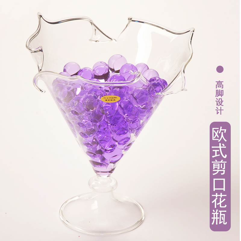Mxmade european creative notches transparent glass vase home fashion jewelry ornaments