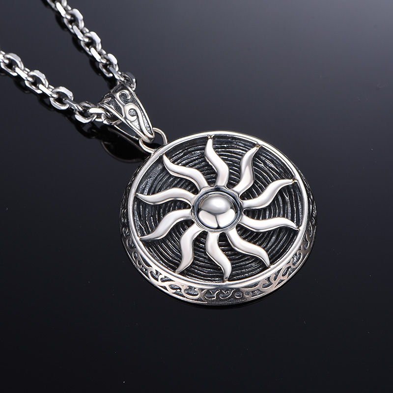 Mysh/ming yang hai 925 silver sun totem retro thai silver pendants men necklace men domineering personality influx of people