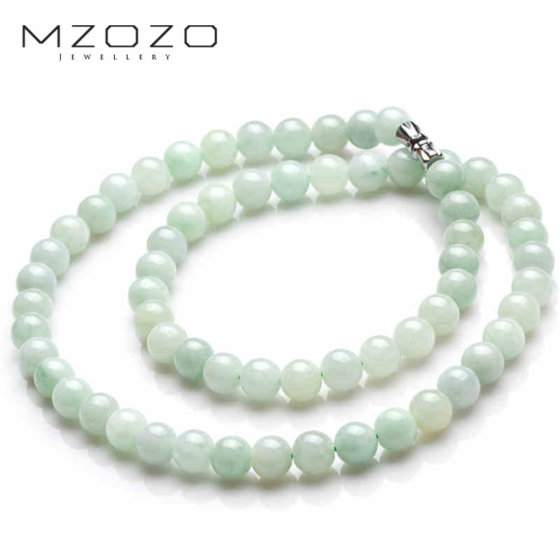 Mzozo/beads wheat MZOZO-Q myanmar jade waxy kinds of jade beads necklace female models a cargo jade beads necklace