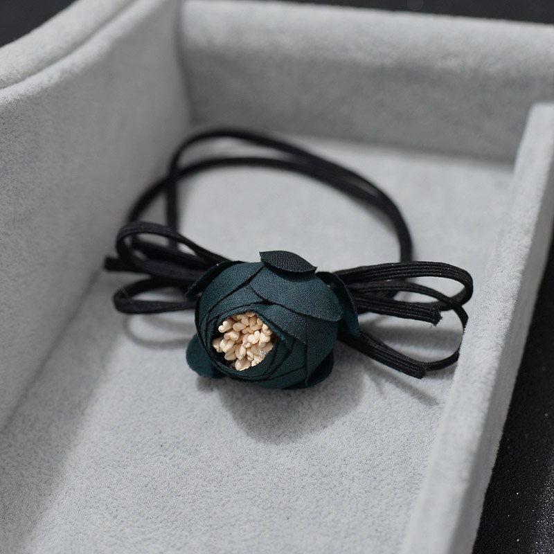 Name flower jewelry bud hair rope hair ring tousheng rubber band hair band head flower headdress hair accessories korean korean dish made