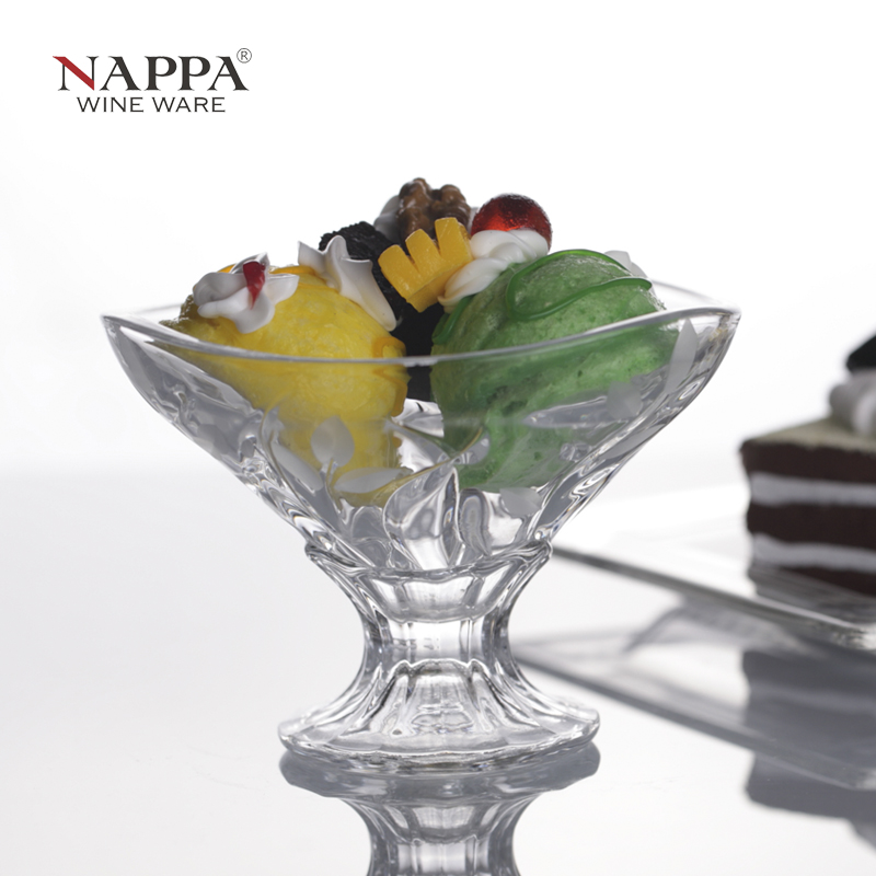 Nappa crystal creative glass cup cold drink cup ice cream cup sand ice bowl bowl of ice cream dessert bowl free shipping