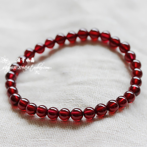 Natural crystal bracelet natural burgundy garnet bracelet natural crystal fashion jewelry temperament female models