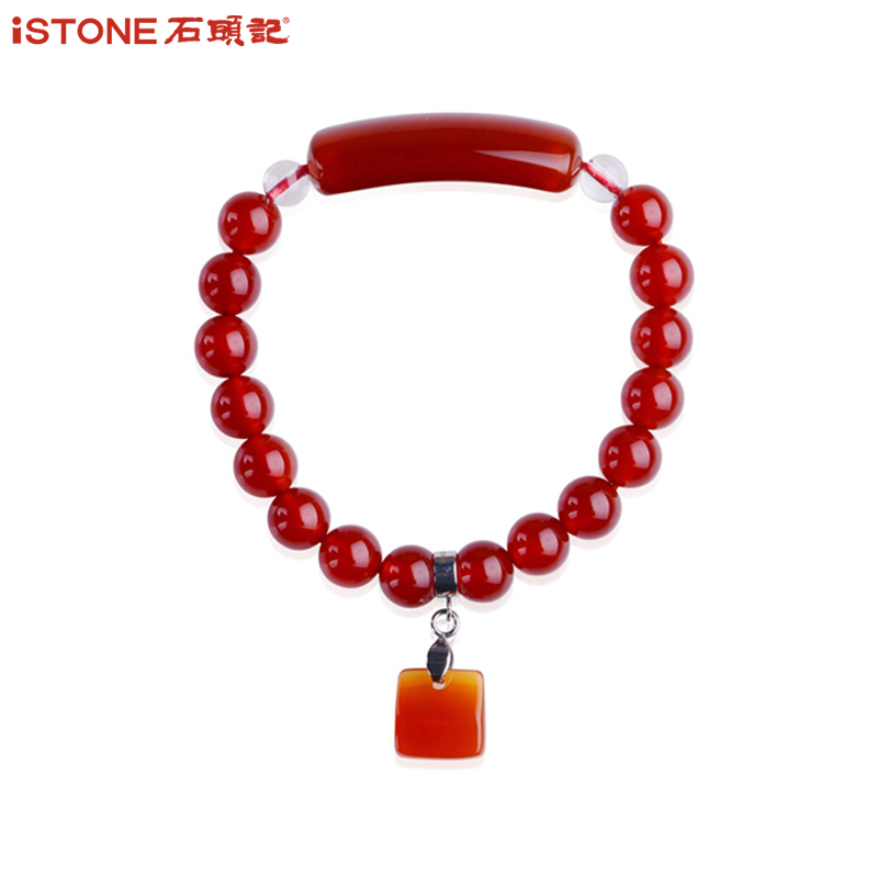 Natural crystal red agate bracelet lap semi precious stones stones fond of ma naw bracelets jewelry gift woman