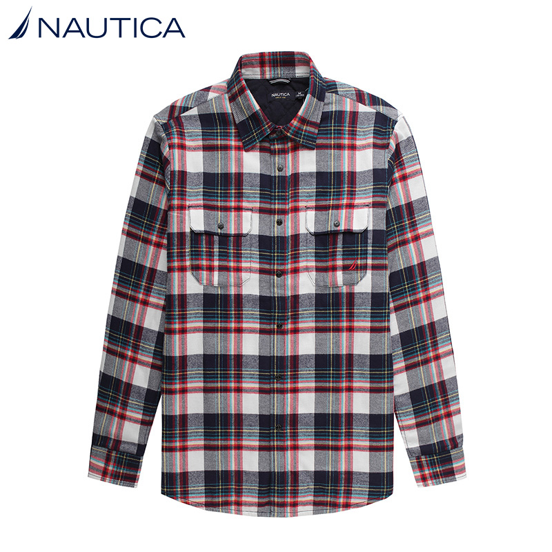 Nautica/nautica urban casual men dongkuan thick long sleeve shirt 14 years WC44201P