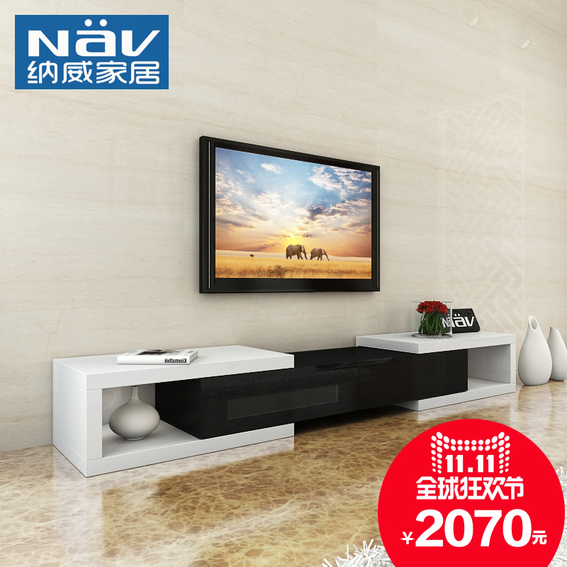 Neville modern minimalist style black and white tv cabinet creative black and white tv cabinet tv cabinet scalable special offer TC203