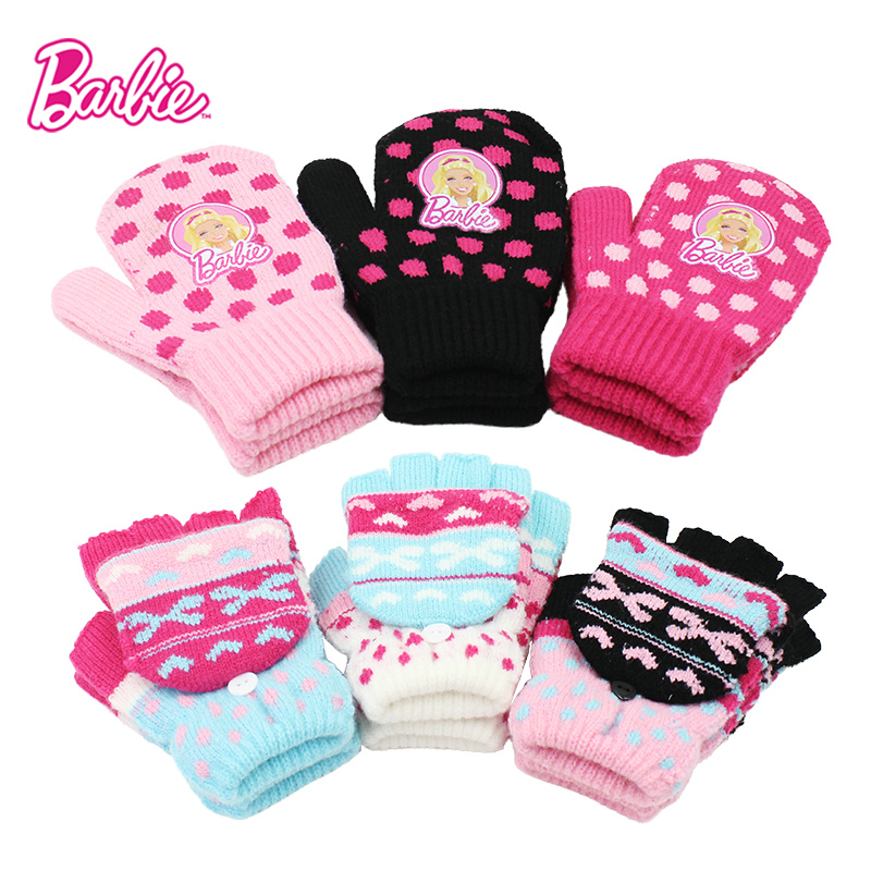 217f70436 Get Quotations · New barbie baby girls gloves half finger flip gloves warm  gloves magic gloves gloves free shipping