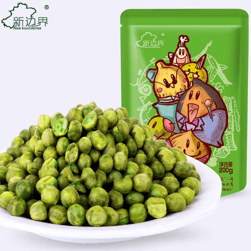 [New border _] casual snack nuts roasted garlic green beans garlic green beans peas beans bagged 200g