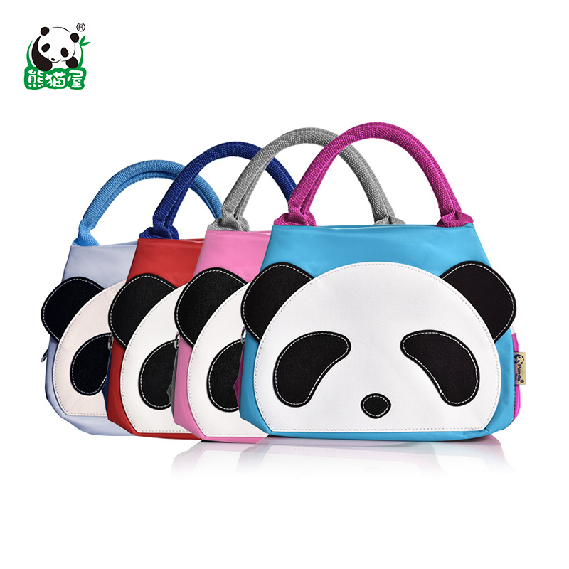 New cartoon panda house toot face multifunction waterproof insulation cold lunch bag small bag lunch bag lunch bag