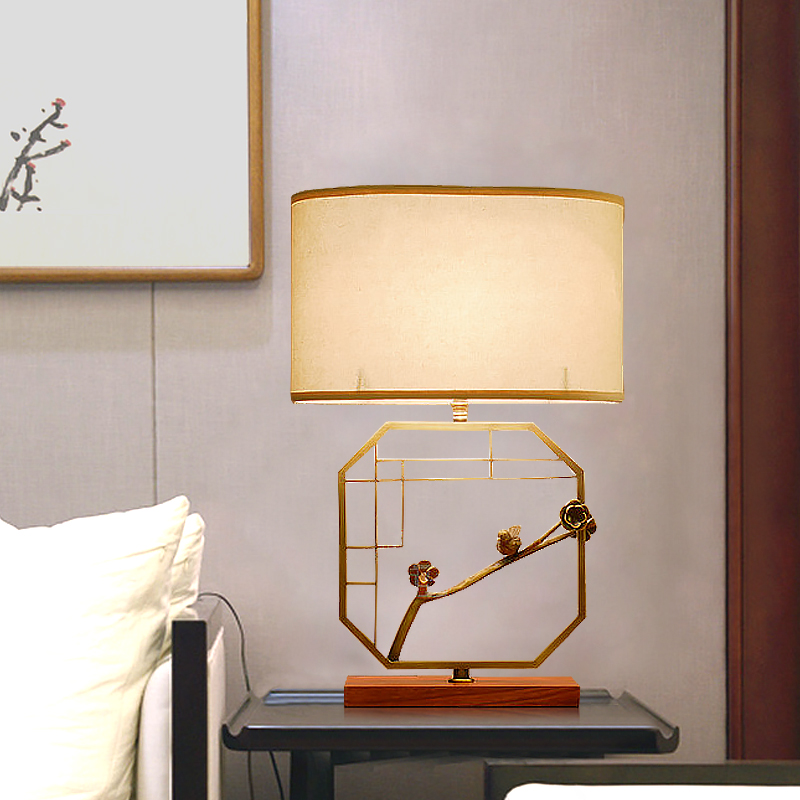 New chinese copper lamp table lamp modern minimalist bedside cabinet bedside cabinet full of chinese copper lamps bedroom cozy living room book room lamp desk lamp