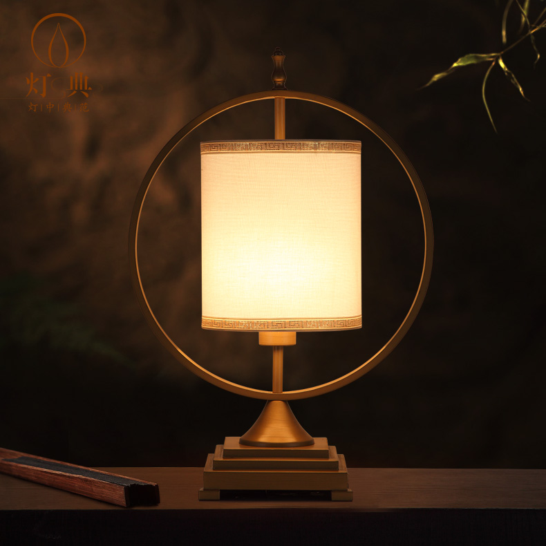 New chinese lamp table lamp modern minimalist vertical hotel bedroom bedside table lamp desk lamp desk lamp bedside lamp warm light
