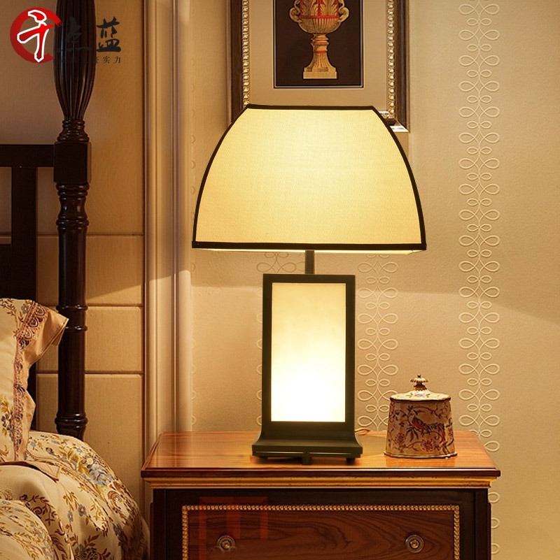 New chinese table lamp modern minimalist living room decorative table lamp bedroom hotel bedside lamp wall lamp wrought iron lamp study desk lamp