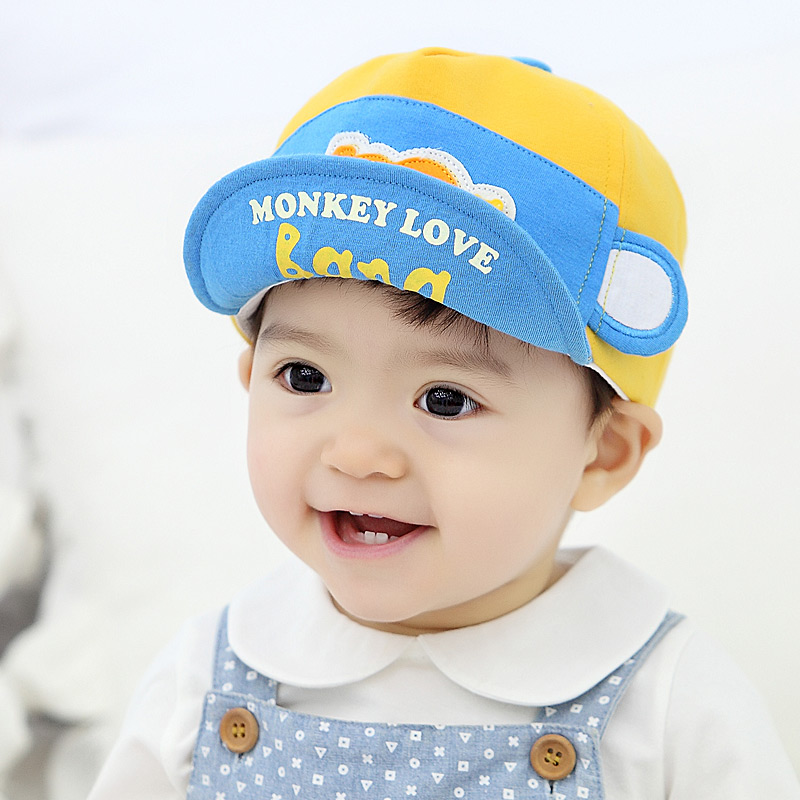 8c560fa7572 Get Quotations · New cotton baby girl baby hat children cap spring and autumn  male korean version of the