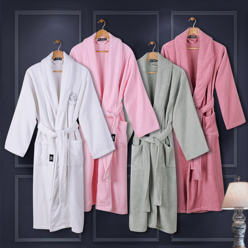 Get Quotations · New cotton thick cotton toweling bathrobe 46 98ff191e2
