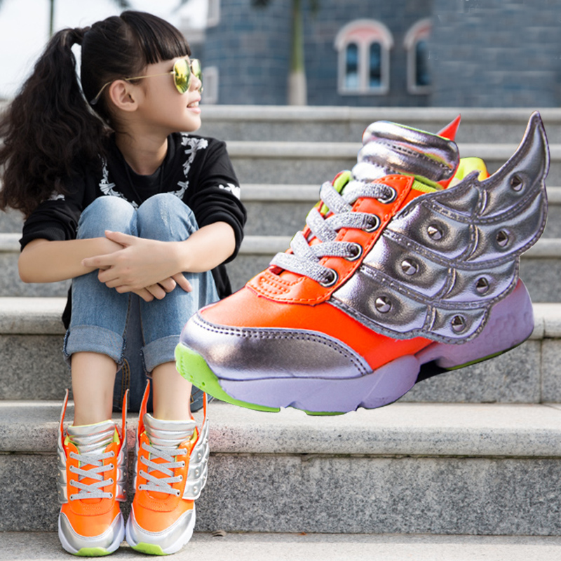 New fall shoes children shoes boy casual shoes led lights luminous wings dazzle color sports shoes women shoes