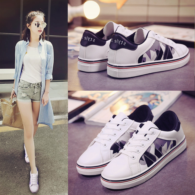New fall shoes women's casual shoes sports shoes shoes student shoes to help low flat lace shoes women shoes tide shoes