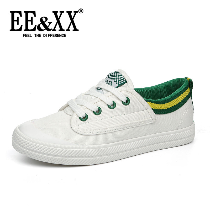 New fashion EEXX2016 hundred ride with flat shoes flat canvas shoes korean version of casual lace shoes 0295